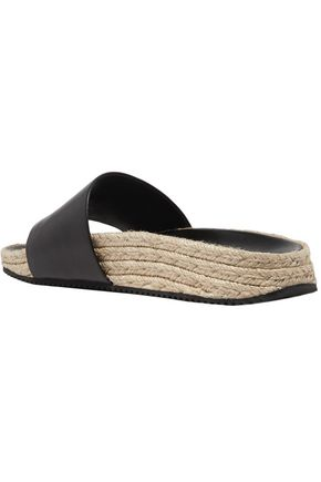 ALEXANDER WANG Suki embellished leather espadrille slides