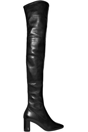SAINT LAURENT Loulou leather over-the-knee boots