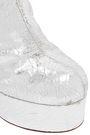 VETEMENTS Metallic textured-leather platform ankle boots