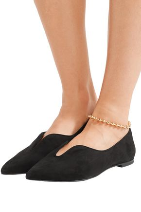 TORY BURCH Lucia Oxford suede point-toe flats