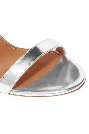 AQUAZZURA Linda mirrored-leather sandals