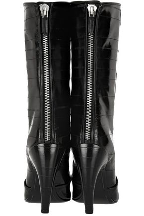 GIVENCHY Mid boots in black eel