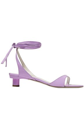 TIBI Scott crinkled patent-leather sandals