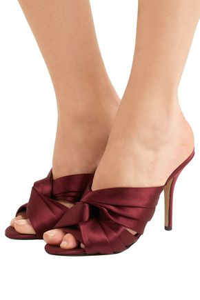 N°21 Twisted satin mules