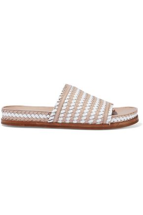 84331743c Two-tone woven leather slides | SIGERSON MORRISON | Sale up to 70 ...