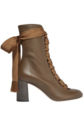 CHLOÉ Harper lace-up leather ankle boots