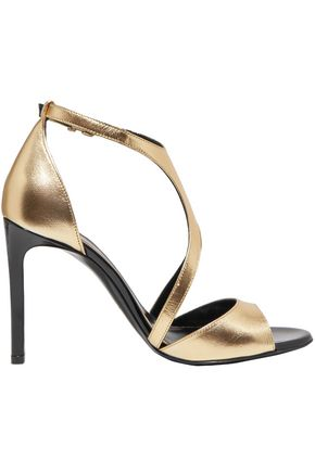 LANVIN Harnais metallic leather sandals