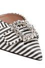 TABITHA SIMMONS Bells crystal-embellished striped canvas slingback pumps