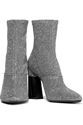 3.1 PHILLIP LIM Kyoto Metallic Stretch-knit Ankle Boots