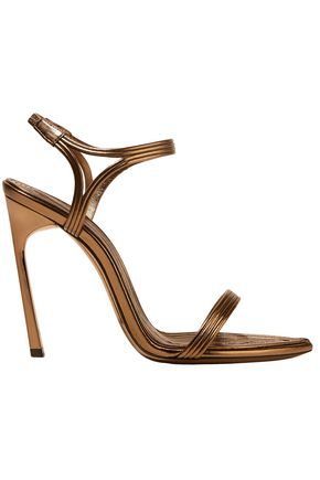 SAINT LAURENT Talitha metallic leather sandals