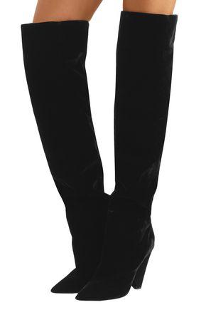 SAINT LAURENT Niki velvet over-the-knee boots