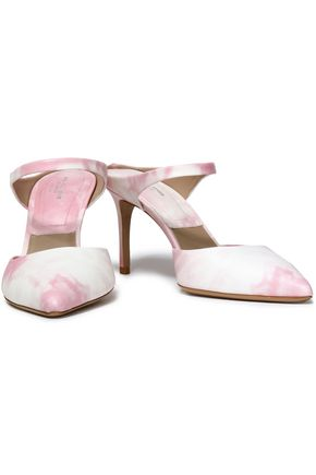 MICHAEL KORS COLLECTION Tie-dyed leather mules