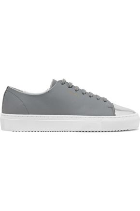 AXEL ARIGATO Metallic and smooth leather sneakers