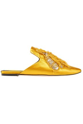 SANAYI 313 Ragno embroidered satin slippers