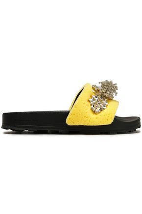 CHRISTOPHER KANE Embellished rubber slides