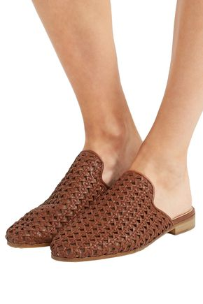 BROTHER VELLIES Woven leather slippers