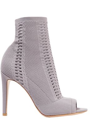 GIANVITO ROSSI Vires 105 open-knit ankle boots
