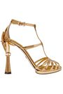 DOLCE & GABBANA Keira embellished mirrored-leather sandals