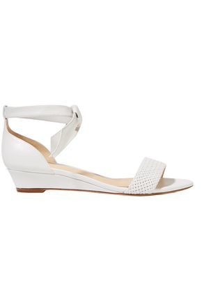 ALEXANDRE BIRMAN Atenah knotted leather wedge sandals