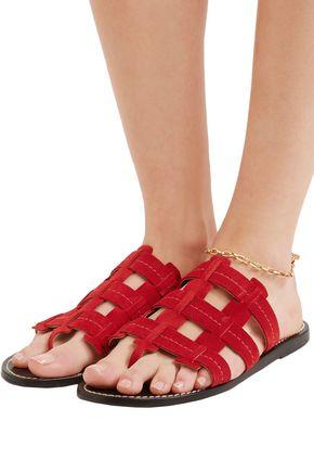 TRADEMARK Cage suede sandals