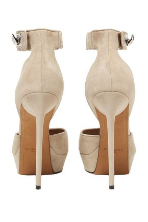 GIVENCHY Shark Lock suede platform sandals