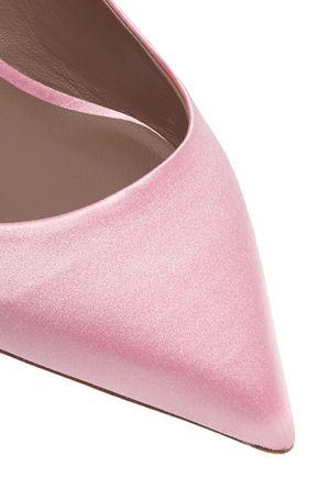 TABITHA SIMMONS Rise bow-embellished satin slingback pumps