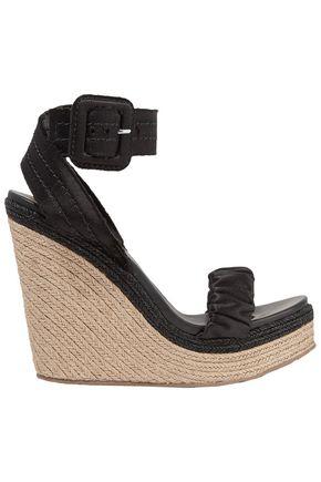 PEDRO GARCÍA Teodora satin espadrille wedge sandals