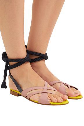 MALONE SOULIERS + Roksanda Marlene color-block leather sandals