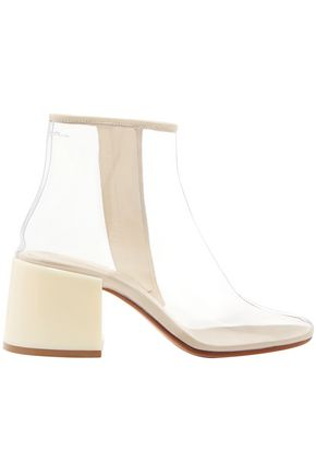 MM6 MAISON MARGIELA Leather-trimmed PVC ankle boots