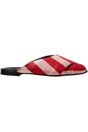 TRADEMARK Pajama gingham canvas slides