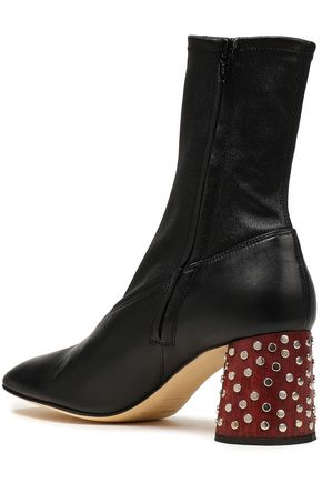 HELMUT LANG Embellished leather ankle boots