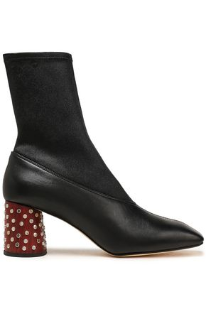 HELMUT LANG Embellished leather ankle boots