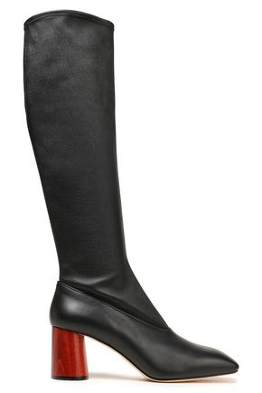 HELMUT LANG Leather knee boots