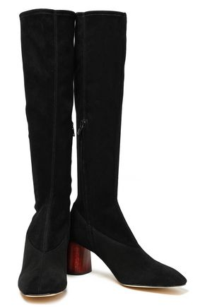 HELMUT LANG Suede knee boots