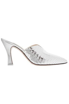 ATTICO Monica mirrored-leather mules