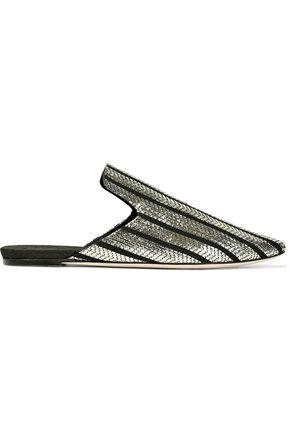 SANAYI 313 Metallic jacquard slippers