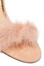 CHARLOTTE OLYMPIA Feather-trimmed suede sandals
