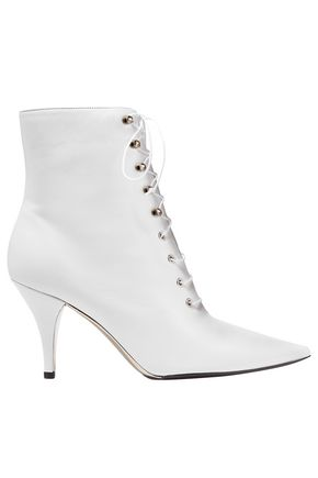 CALVIN KLEIN 205W39NYC Lace-up leather ankle boots