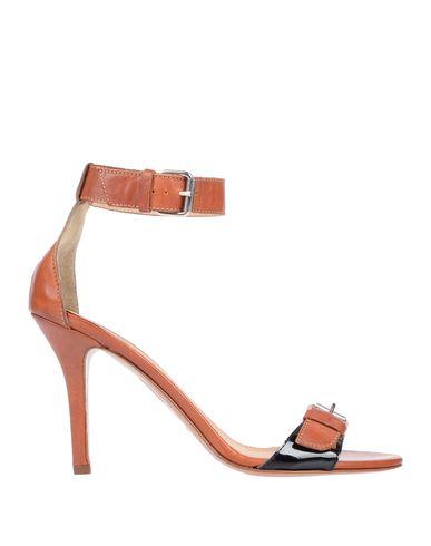 Фото - Женские сандали MUGNAI желто-коричневого цвета