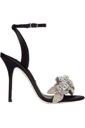 SOPHIA WEBSTER Crystal-embellished satin sandals