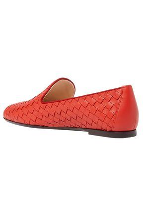 BOTTEGA VENETA Woven leather loafers