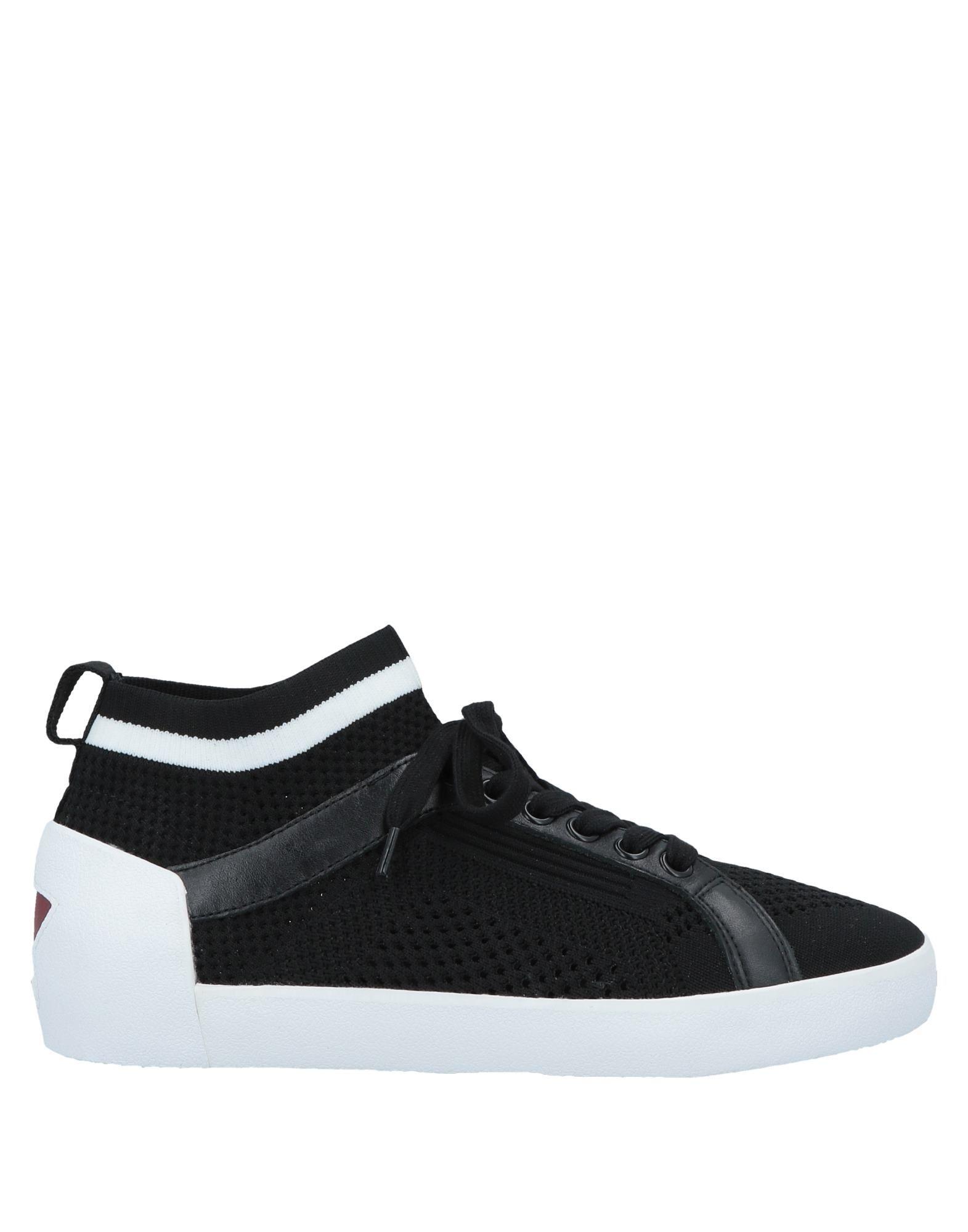 《送料無料》ASH レディース スニーカー&テニスシューズ(ハイカット) ブラック 36 紡績繊維 / 牛革(カーフ)