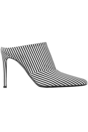 ALTUZARRA Striped twill mules