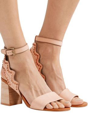 SEE BY CHLOÉ Scalloped embellished leather sandals