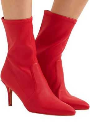 STUART WEITZMAN Stretch-leather ankle boots