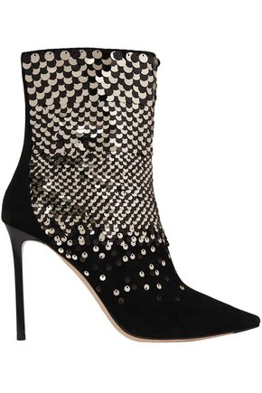 3049c3bb2357 JIMMY CHOO Embellished suede ankle boots
