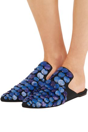 SANAYI 313 Sequined canvas slippers