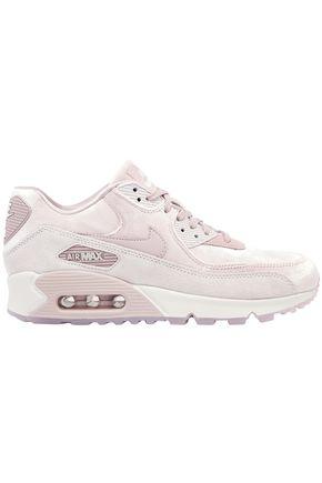NIKE Suede-paneled velvet sneakers