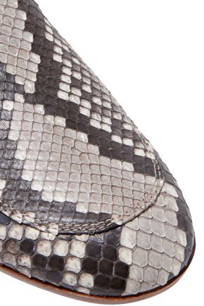 GIANVITO ROSSI Python slippers