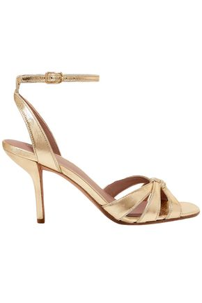 DIANE VON FURSTENBERG Felicity metallic textured-leather sandals
